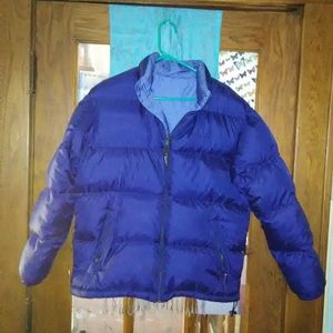 Reversable L.L. Bean puffer jacket blue